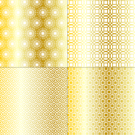 fretwork: gold geometric patterns