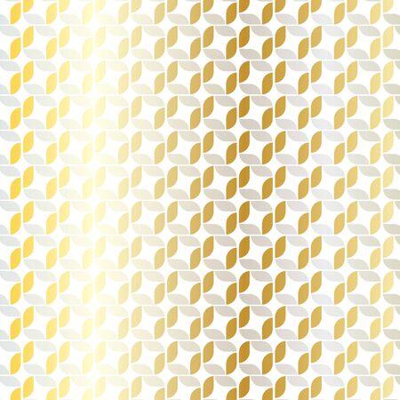 銀金の幾何学模様