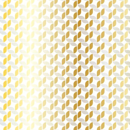mid century modern: silver gold geometric pattern