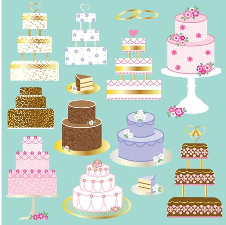 layered: wedding cake clipart