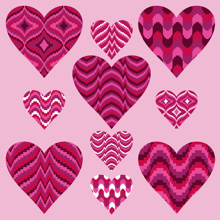 Patterned Hearts Stok Fotoğraf - 36005523