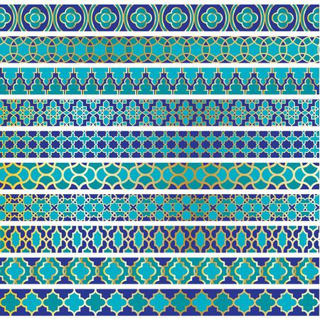 blauwe Marokkaanse grenzen Stock Illustratie