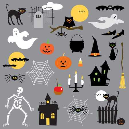casita de dulces: clipart Halloween