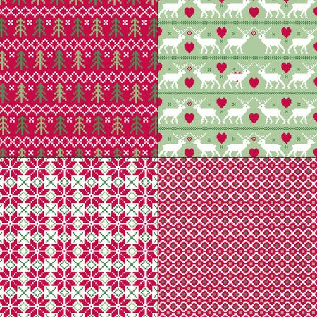 punto cruz: patrones de navidad escandinavo