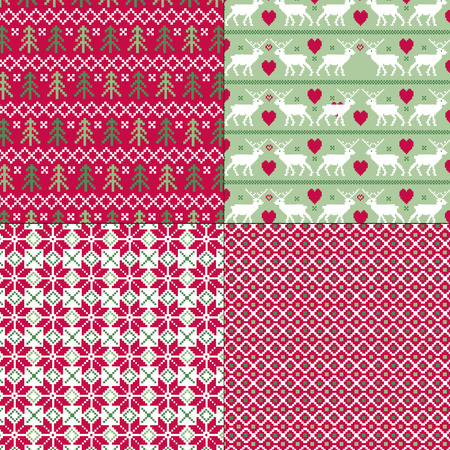 scandinavian christmas patterns