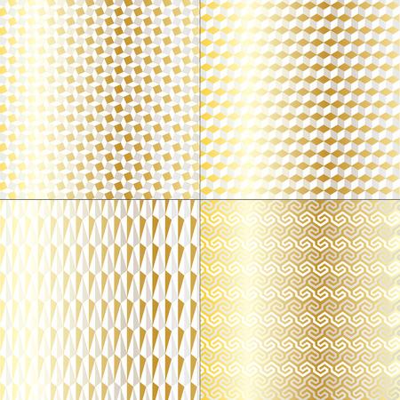 silver: Silver Gold Mod Geometric Patterns