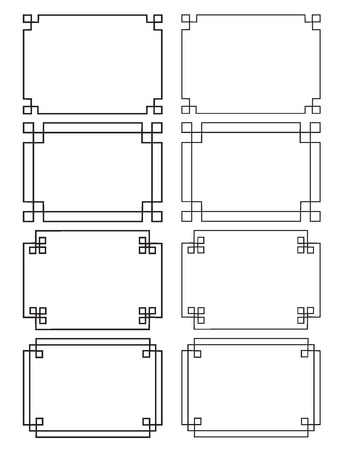 fretwork frames Ilustracja