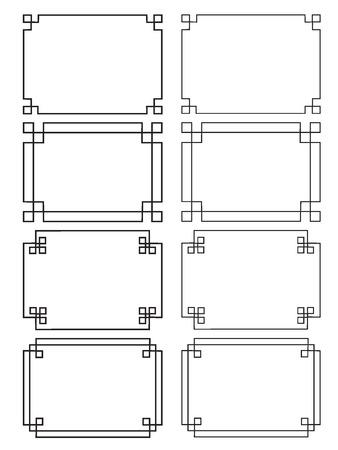 fretwork frames Vectores