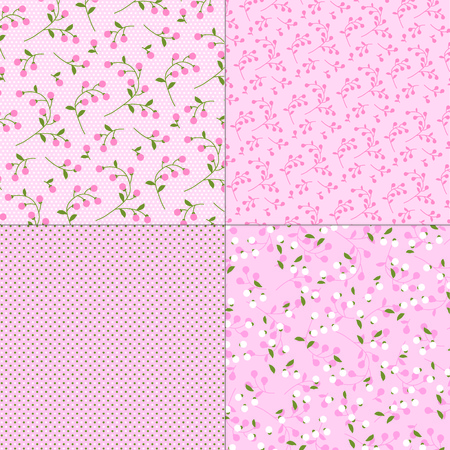 calico: pink floral  patterns
