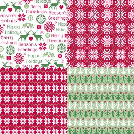 北欧のクリスマスのパターン