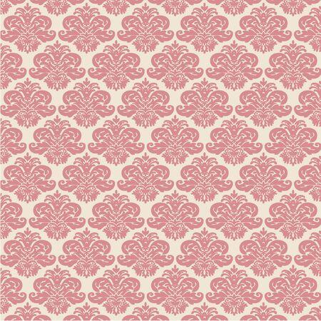 rose damask pattern