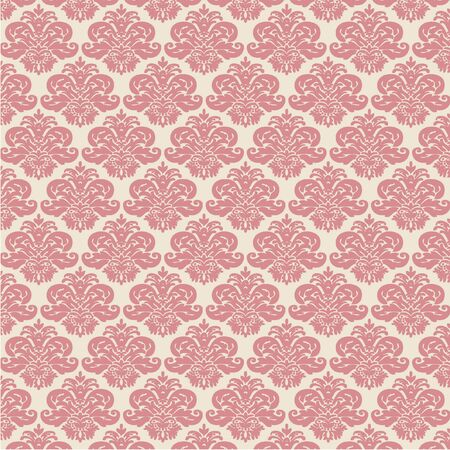 rose damask pattern