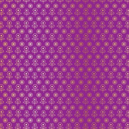 gold and purple Indian paisley pattern Illustration