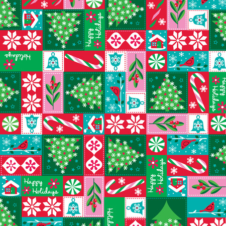 holiday patchwork pattern