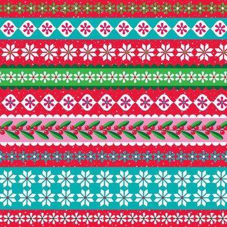 クリスマス スノーフレーク ストライプ