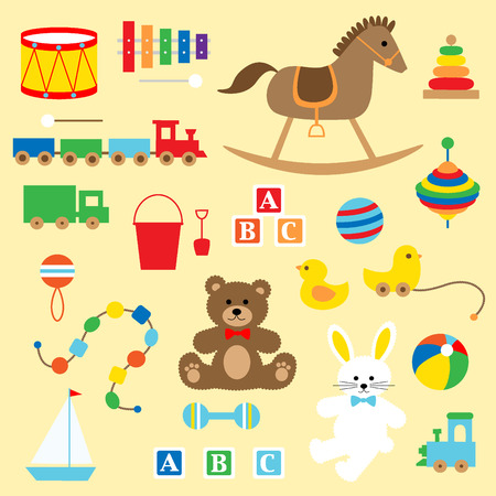baby rabbit: classic baby toys Illustration