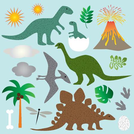 恐竜  イラスト・ベクター素材