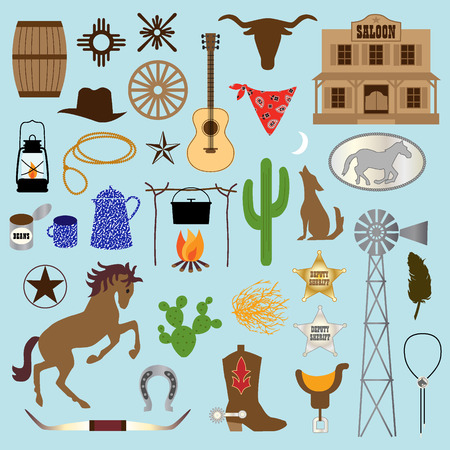 horses: cowboy clipart Illustration