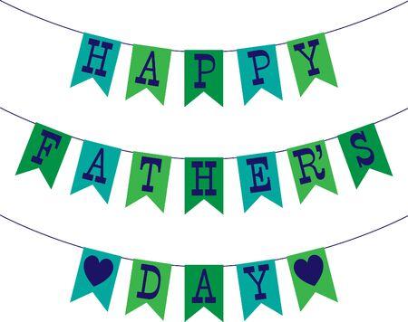 blue green fathers day bunting Çizim
