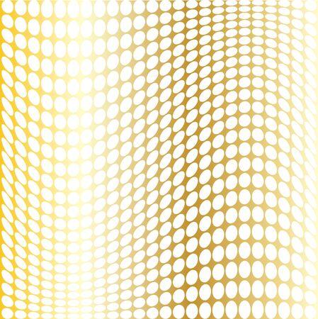 mod: gold white mod warped dots Illustration