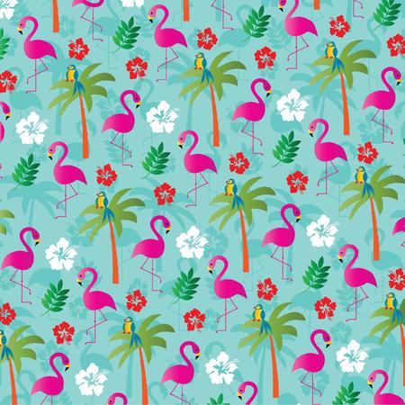 flamingo pattern Illustration