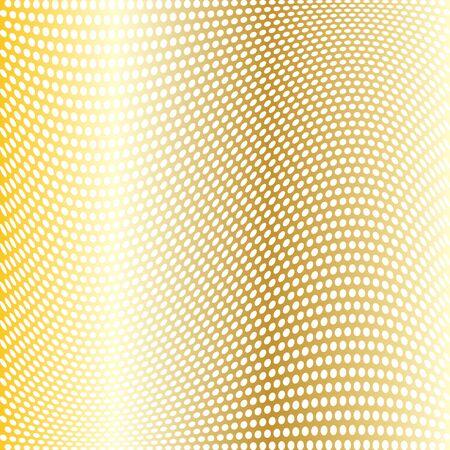 warped: gold warped dot pattern