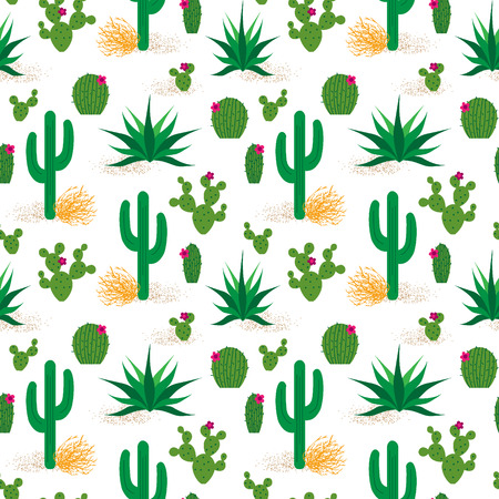 砂漠のサボテン パターン