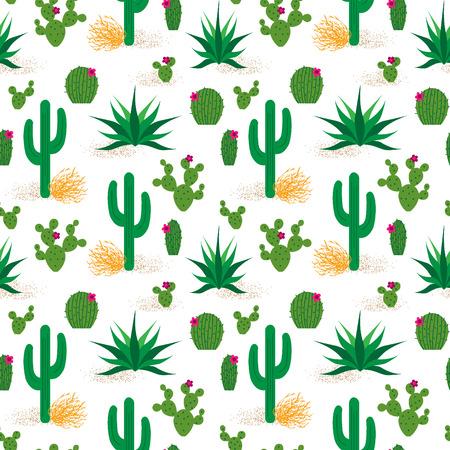 prickly pear: desert cactus pattern