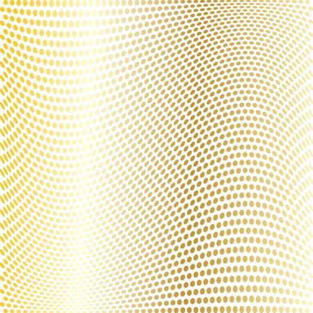 gold warped dot pattern