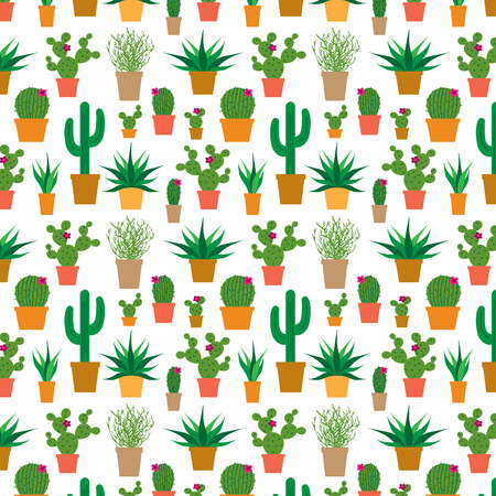 prickly pear: cactus in pots Illustration