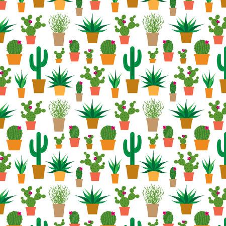 cactus in pots Illustration