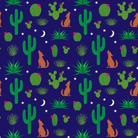 saguaro: cactus pattern