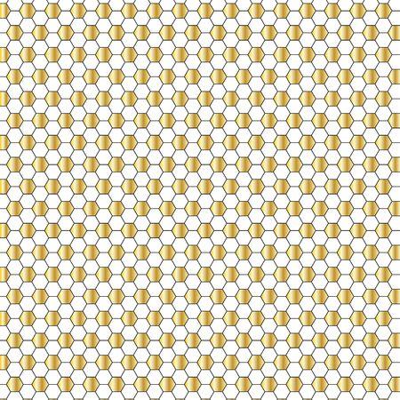 gold hexagon pattern