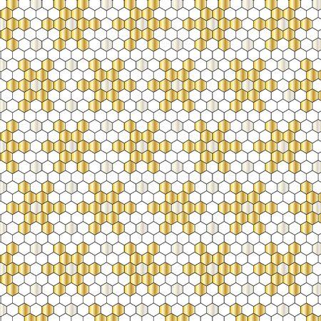 metallic: metallic  geometric mosaic pattern