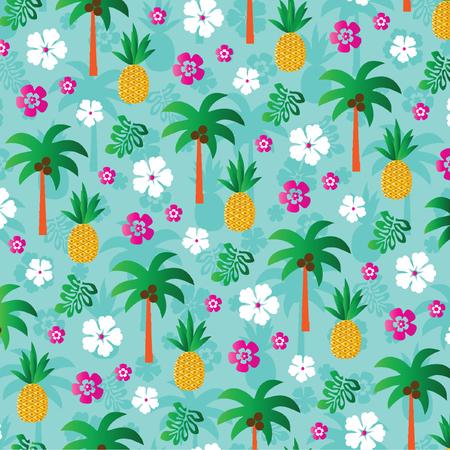 ananas palmboom Stock Illustratie