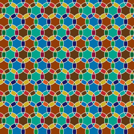 interlocking: interlocking Moroccan circle tiles Illustration