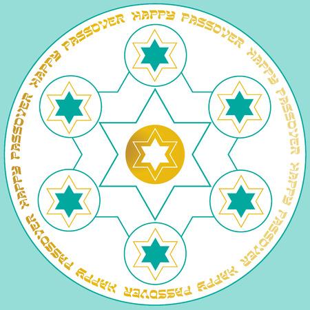 seder plate: Passover seder plate Illustration