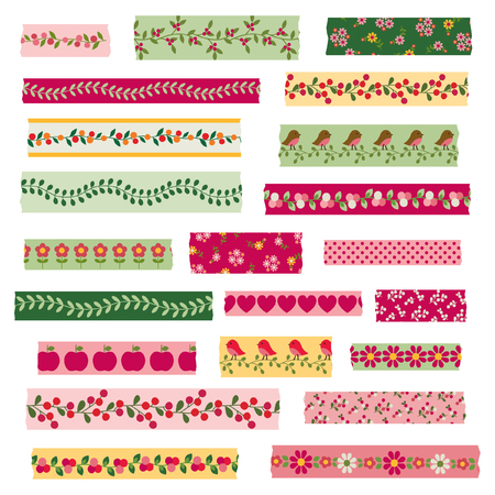 Woodland Washi Tape Clipart Çizim