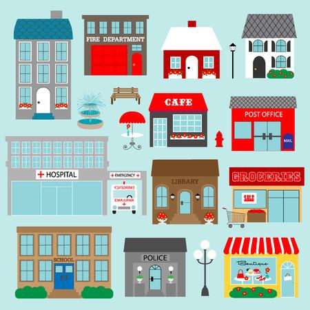 street lamp: town clipart Illustration