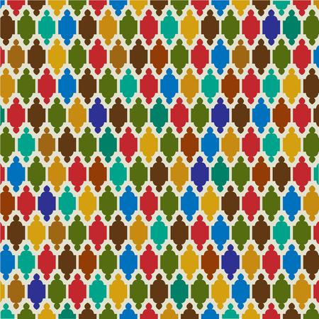 interlocking: interlocking Moroccan pattern