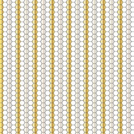 metallic honeycomb stripe pattern Ilustracja