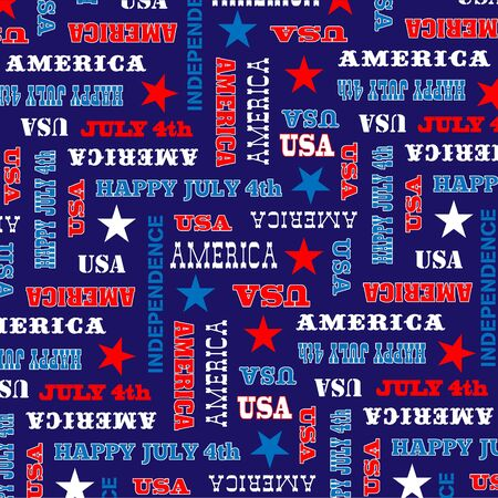 4th: July 4th background pattern Illustration