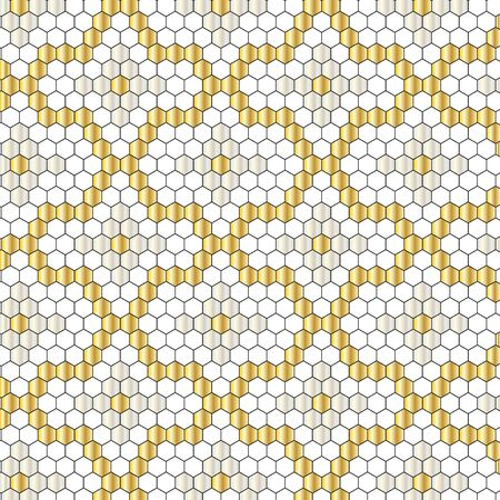metallic: metallic mosaic pattern