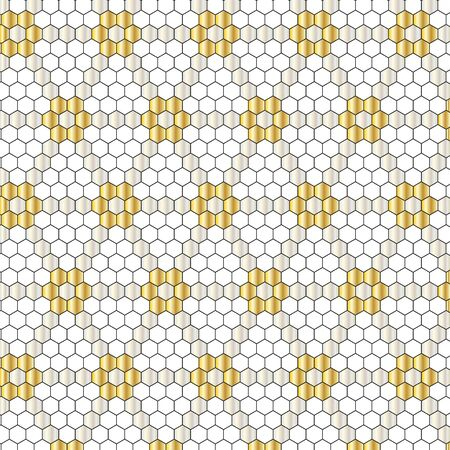 metallic hexagon geometric pattern