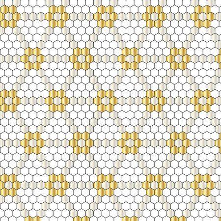 metallic: metallic hexagon geometric pattern