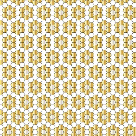 silver gold geometric tile pattern