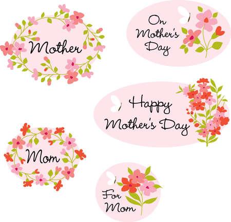 Mothers Day Clipart Illusztráció