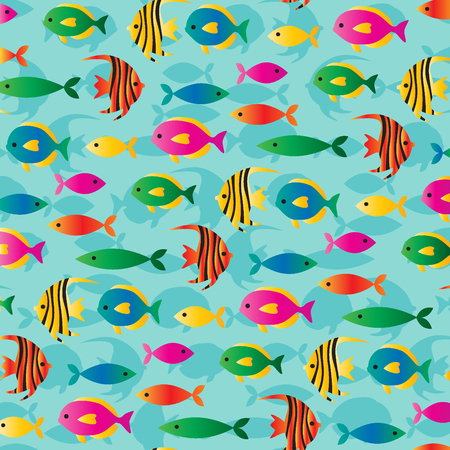 tropical: tropical fish pattern Illustration