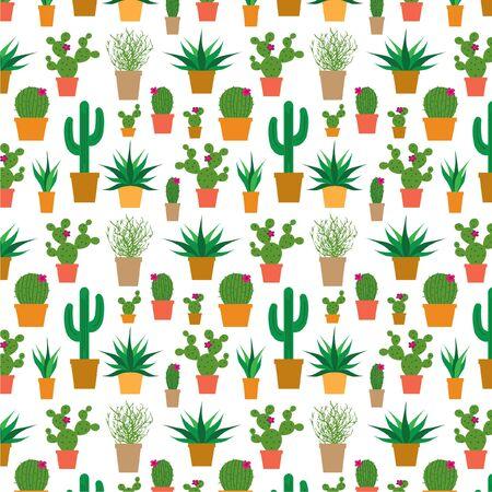 saguaro: cactus in pots Illustration