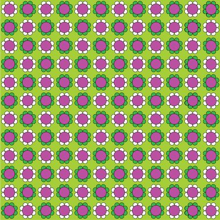 mod flower background Illustration
